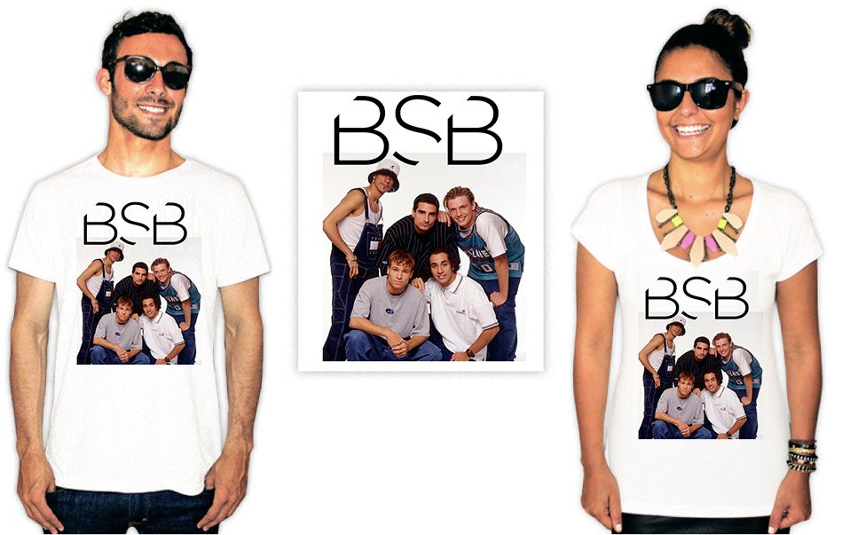 Camiseta Backstreet Boys BSB