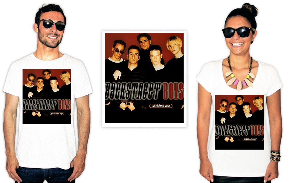 Camiseta Backstreet Boys capa disco