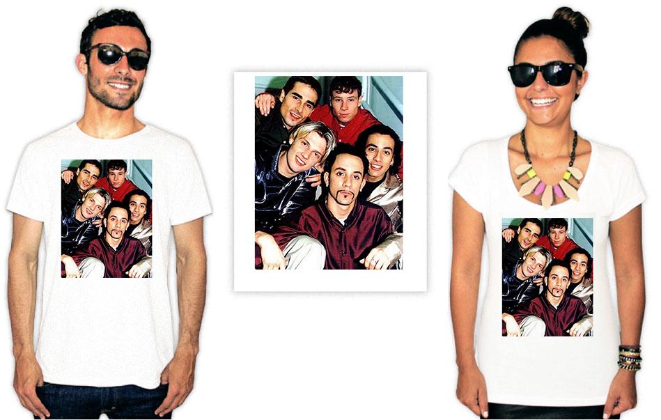 Camiseta Backstreet Boys foto antiga