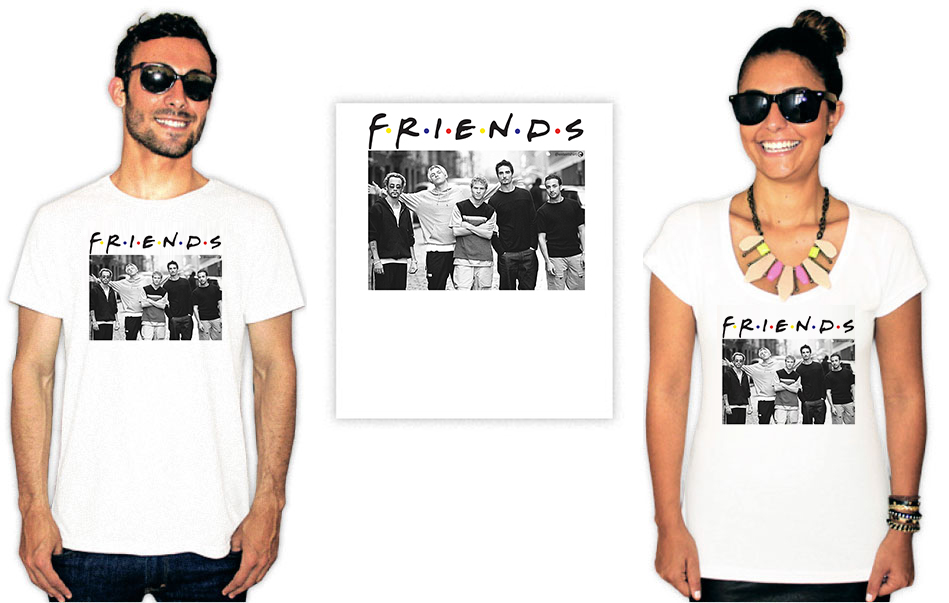 Camiseta Backstreet Boys Friends