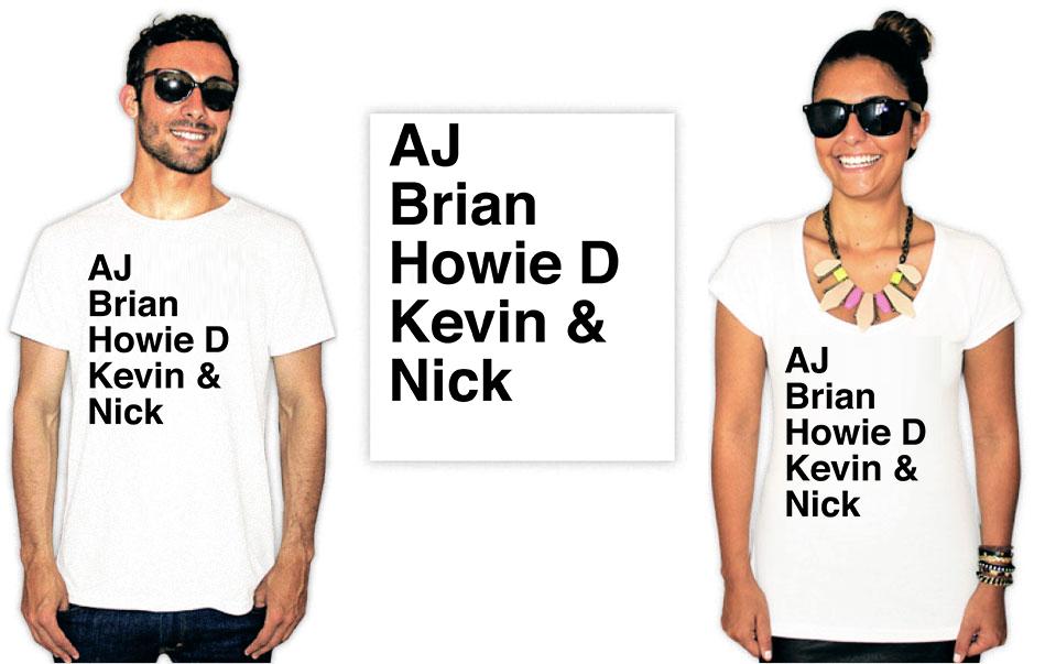 Camiseta Backstreet Boys integrantes