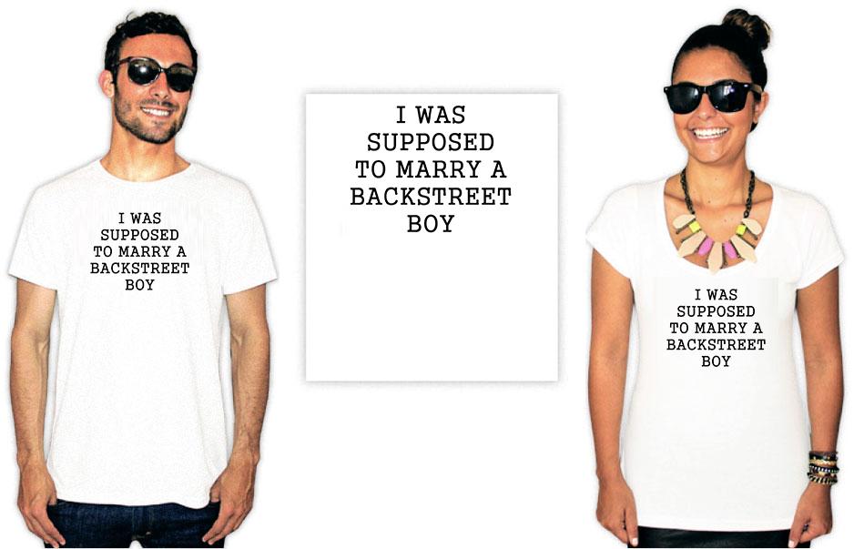 Camiseta Backstreet Boys Suppose to Marry