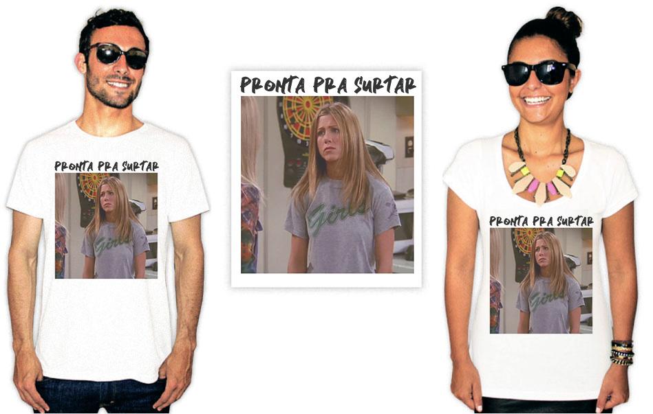 Camiseta com estampas da série Friends rachel pronta pra surtar