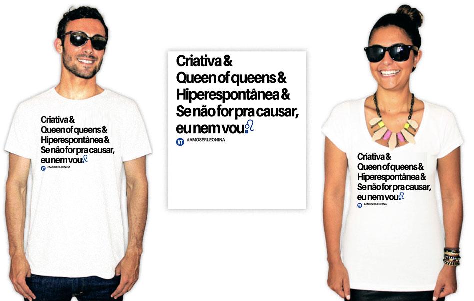 Camiseta estampa leonina criativa