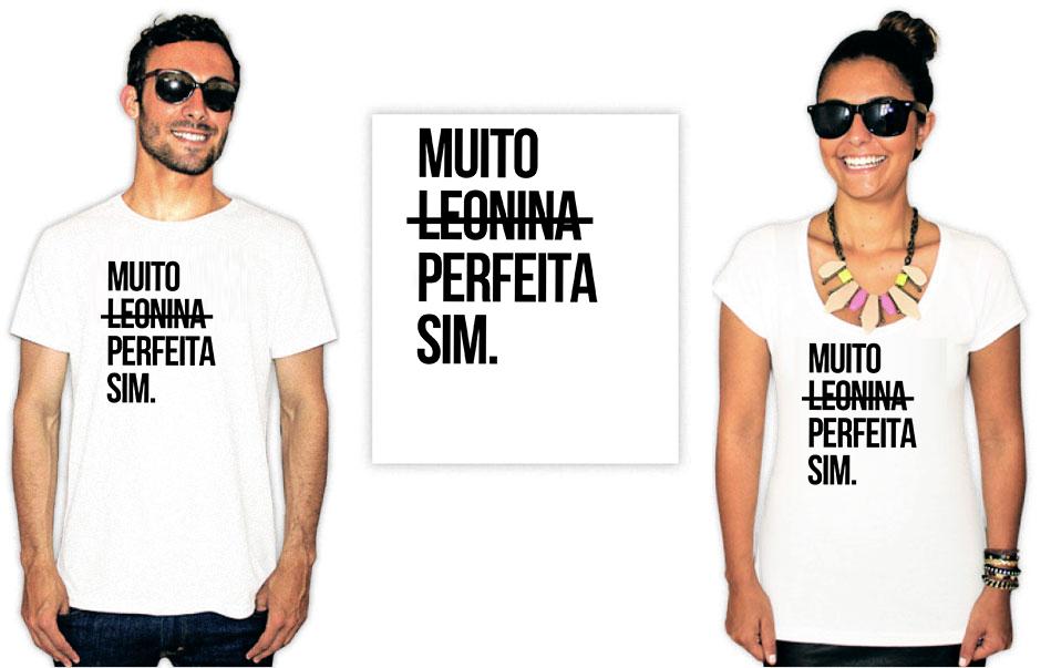 Camiseta estampa leonina perfeita