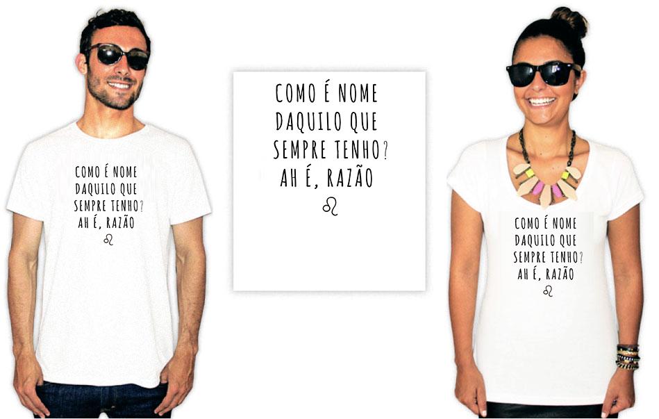 Camiseta estampa leonina razão