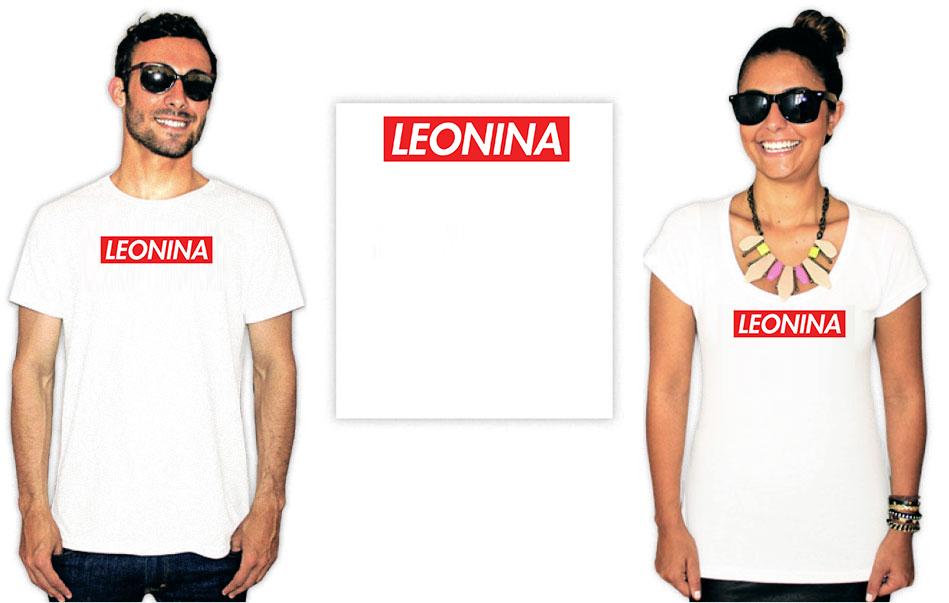 Camiseta estampa leonina