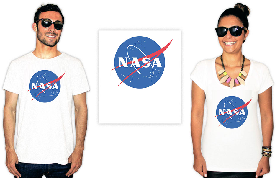 Camiseta com a estampa do logo da Nasa
