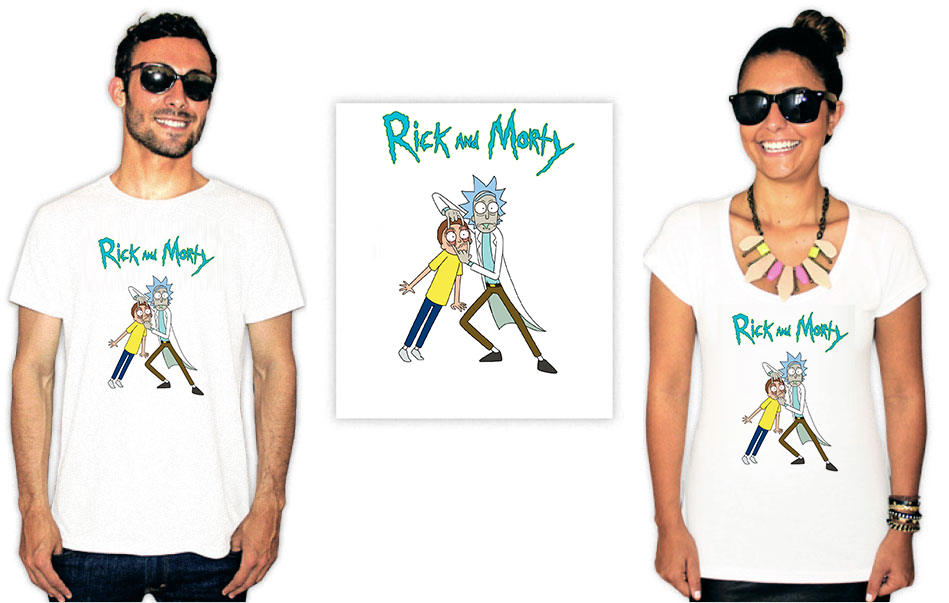 Camiseta com estampa Rick e Morty