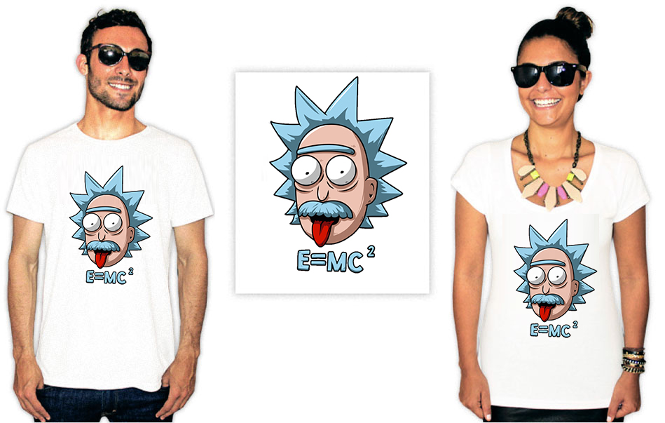 Camiseta com estampa Rick e Morty Eistein