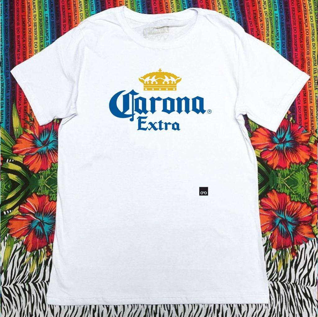 Camiseta com estampa sobre o coronavírus cerveja corona