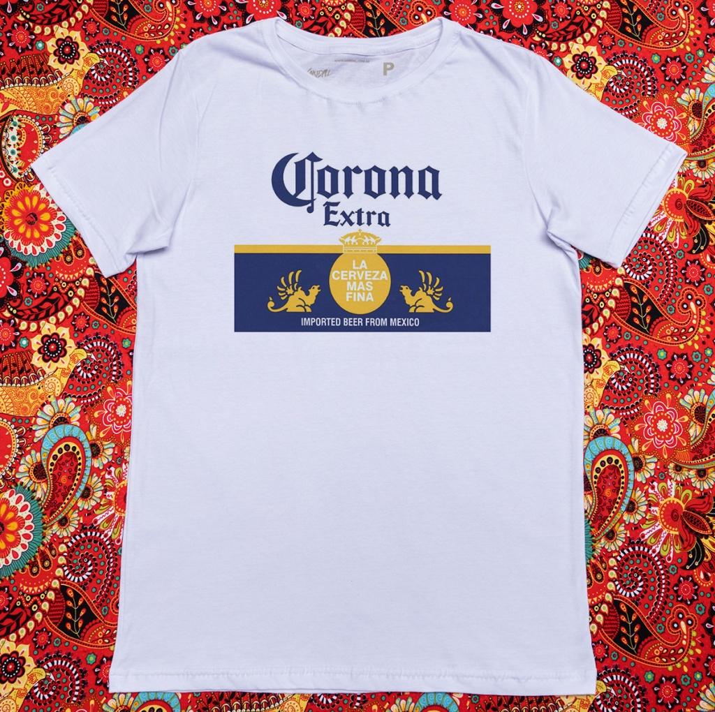 Camiseta com estampa sobre o coronavírus corona beer