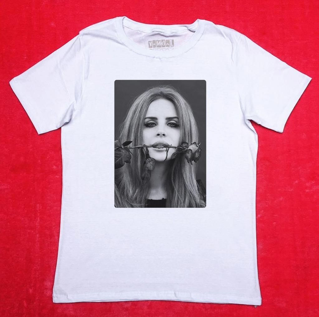 Camiseta Lana Del Rey Rosa