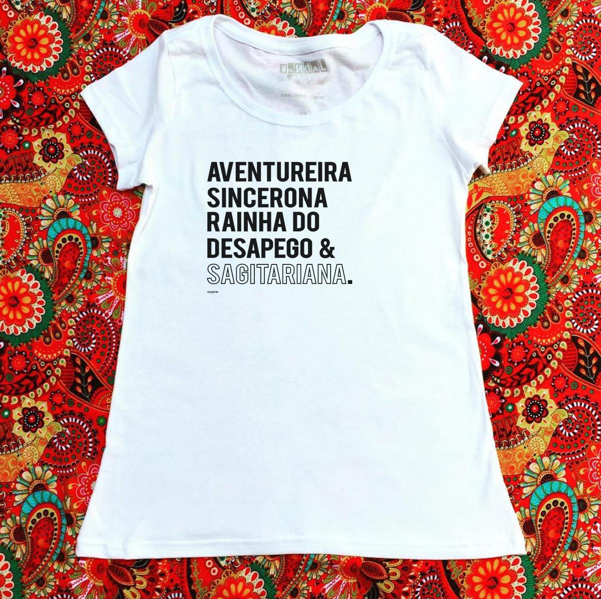 Camiseta sagitariana aventureira