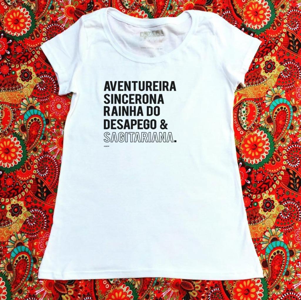Camiseta com estampa sobre sagitariana e suas características