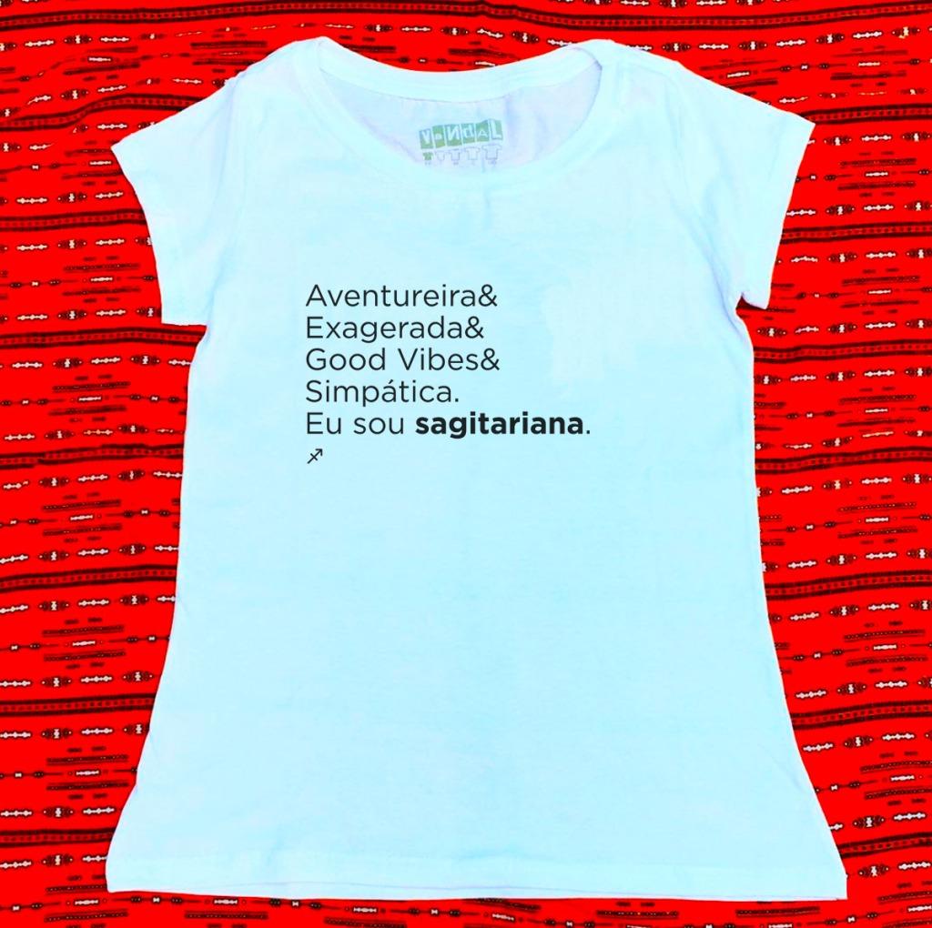Camiseta com estampa sobre sagitariana