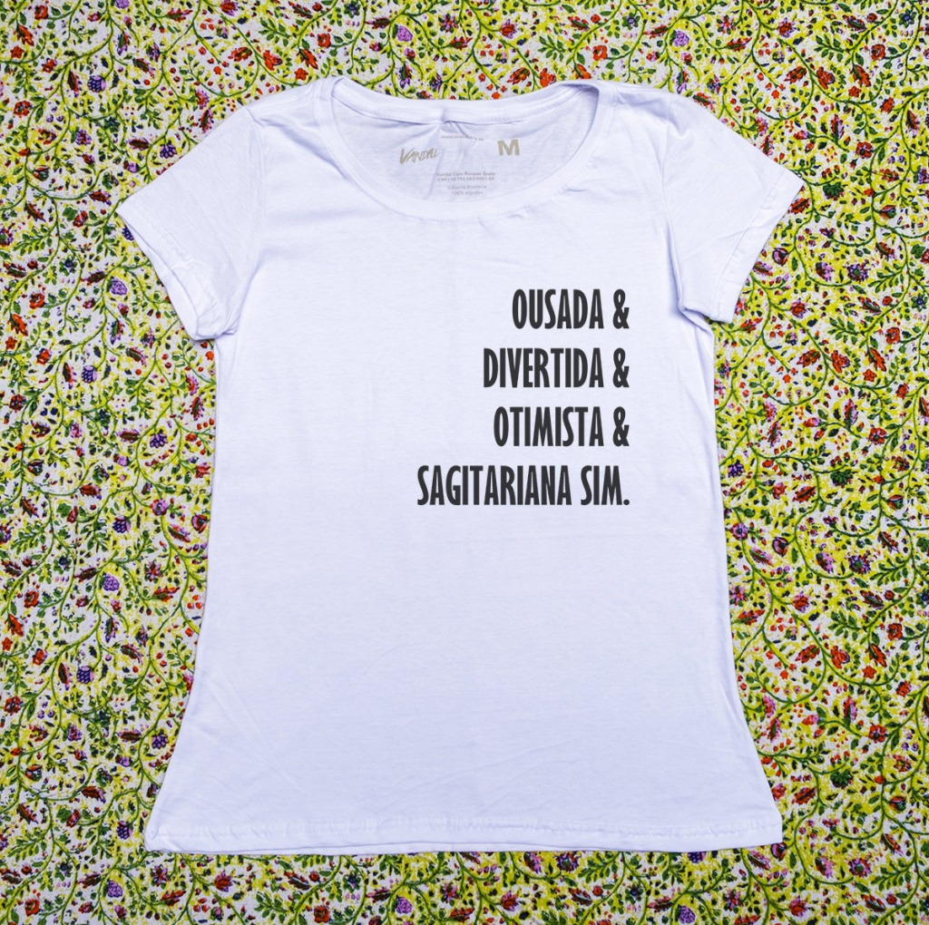 Camiseta com estampa sobre sagitariana divertida