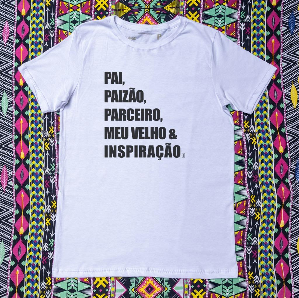 Camiseta com estampa pai inspiração