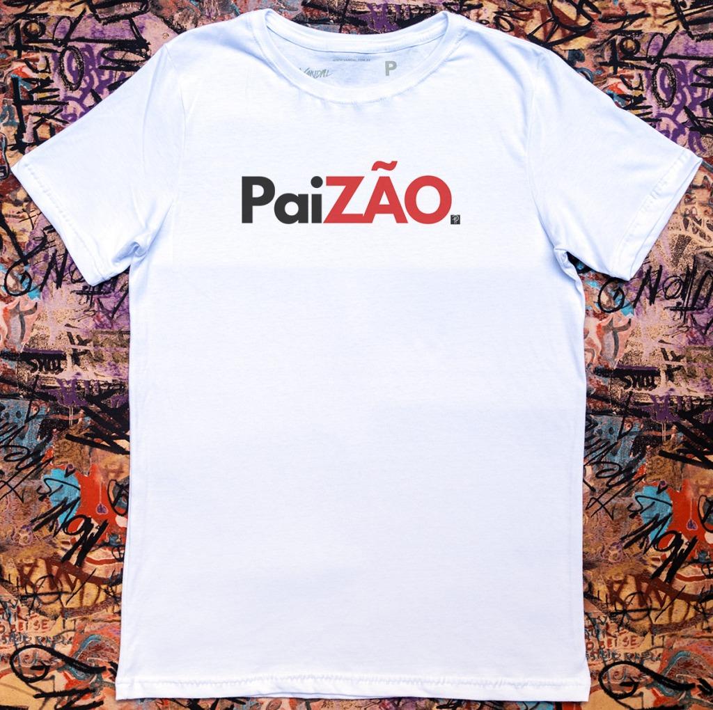 Camiseta com estampa com a frase paizão