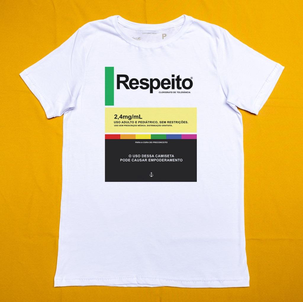 Camiseta contra homofobia respeito