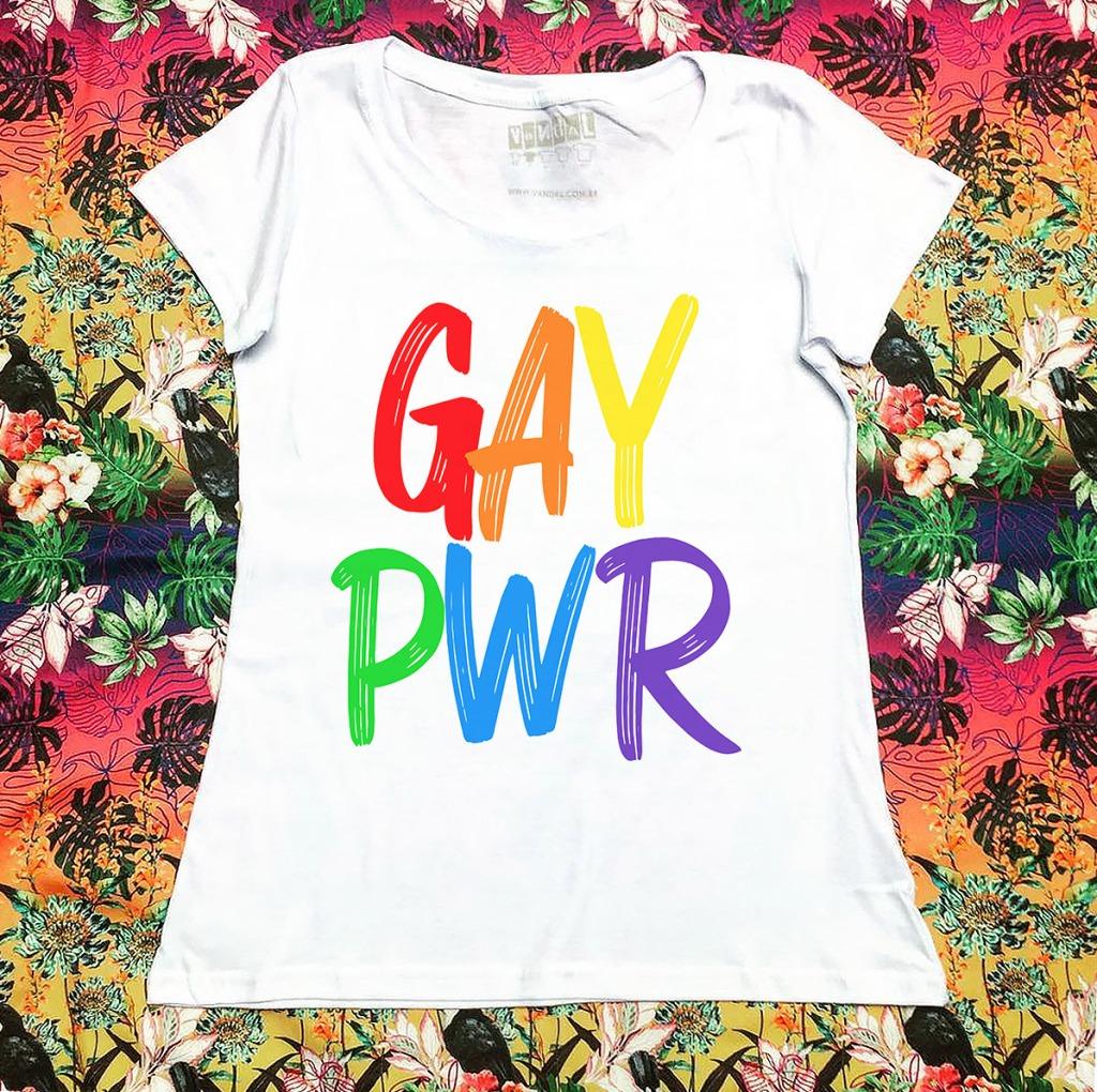 Camiseta contra homofobia gay power