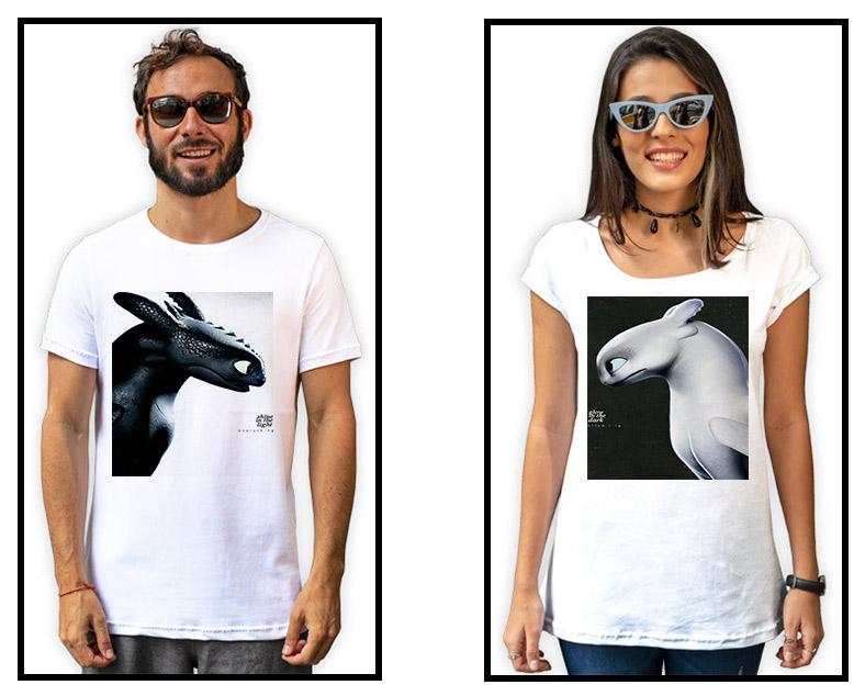 Camisetas Dragões Namorados