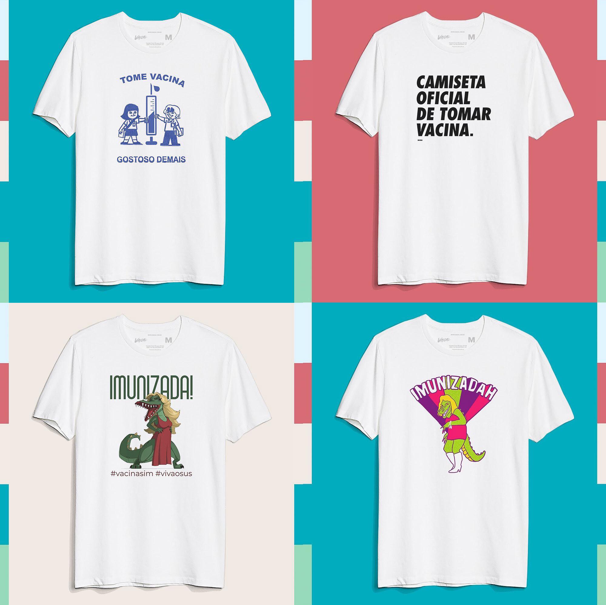 Camisetas vacina covid